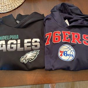 Boys Philadelphia Eagles Sixers Hoodie L